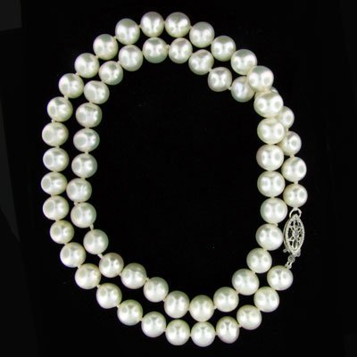 "47: 17"" Freshwater Pearl Necklace-Long Strand"