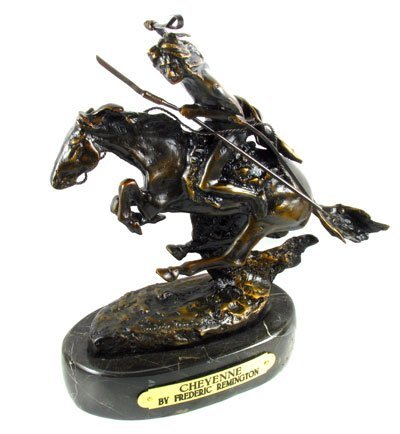 35: Frederic Remington Bronze Reproduction - Cheyenne