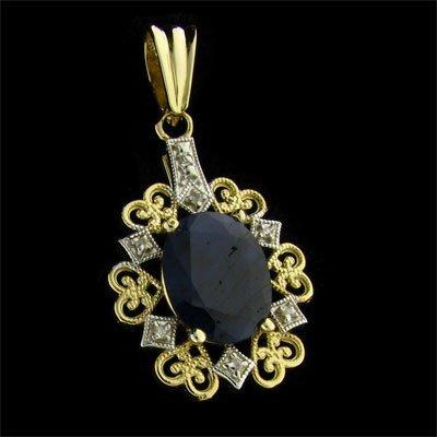 1: APP: 2.5k 14 kt. Gold, 5.60CT Sapphire and Diamond P