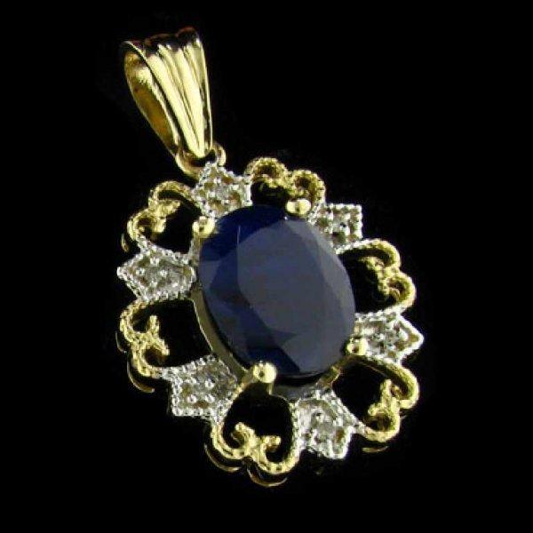 43: APP: 5.4k 14 kt. Gold, 6.04CT Sapphire and Diamond