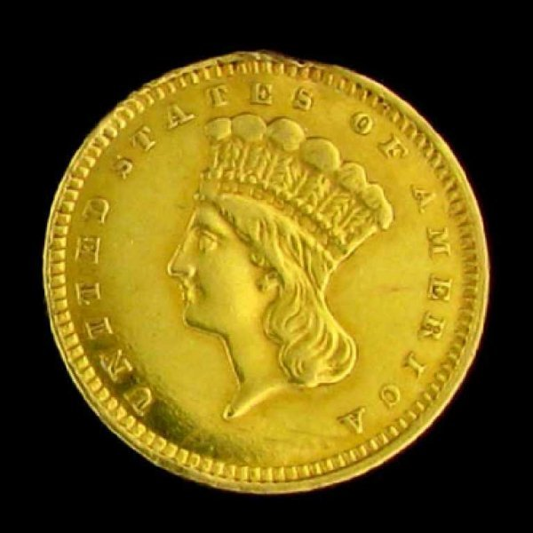 59: 1873 $1 U.S. Indian Head Type Gold Coin-Investment