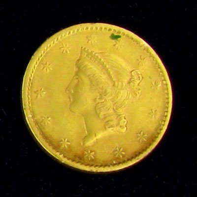 5: 1852 $1 U.S. Liberty Head Type Gold Coin-Investment