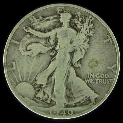11: 1940-S U.S. Walking Liberty Half Dollar Coin-Invest