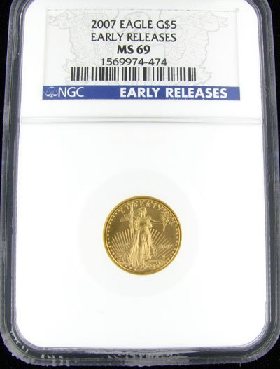 35: 2007 $5 U.S. Eagle Gold Coin-Investment Potential