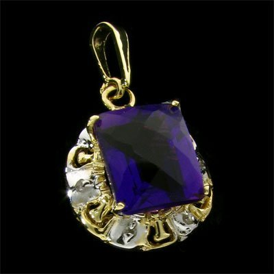 1: APP: 1.4k 14 kt. Gold, 4.65CT Amethyst and Diamond P