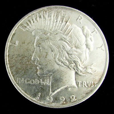 11: 1922 U.S. Peace Silver Dollar Coin-Investment Poten