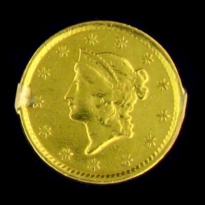 47: 1852 $1 U.S. Liberty Head Type Gold Coin-Investment