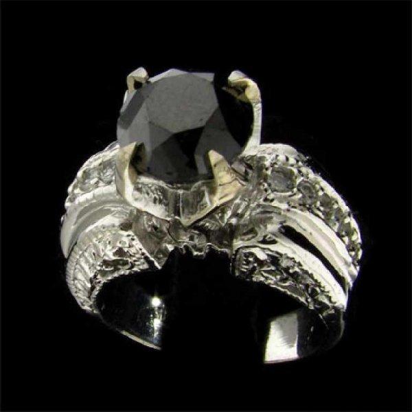 11: APP: 8.5k 14 kt. White Gold, 2.95CT  Black Diamond