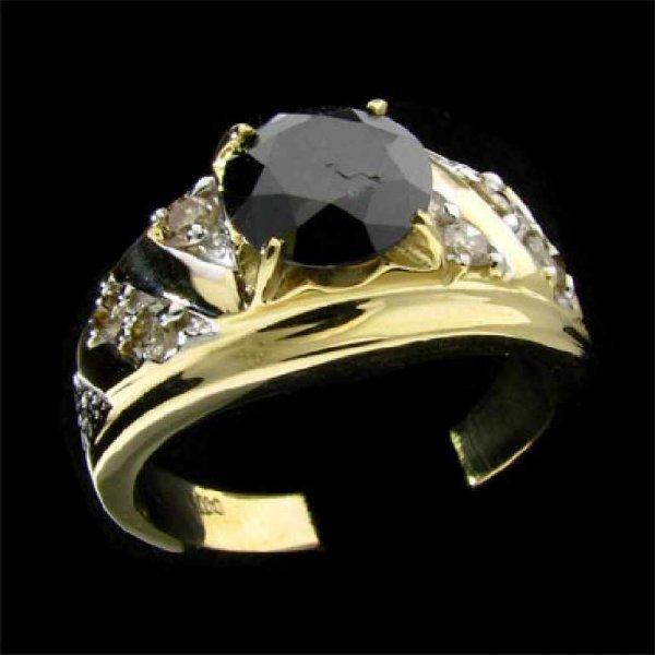 17: APP: 4.6k 14 kt. Gold, 1.99CT  Black Diamond and Di