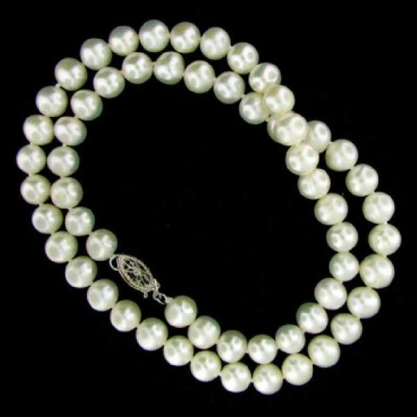 47: 16'' Freshwater Pearl Necklace-Single Strand