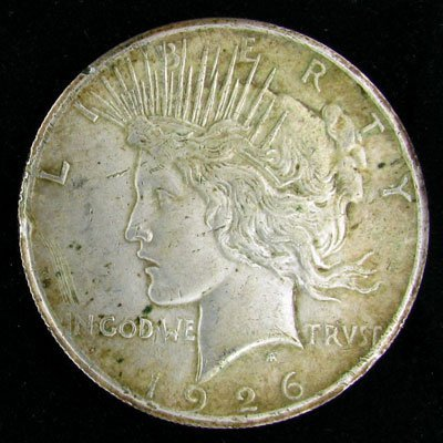 19: 1926 US Peace Silver Dollar Coin-Investment Potenti