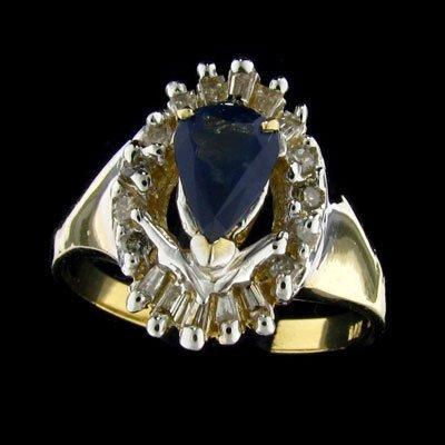 35: APP: 3.2k 14 kt. Gold, 0.73CT Sapphire and Diamond