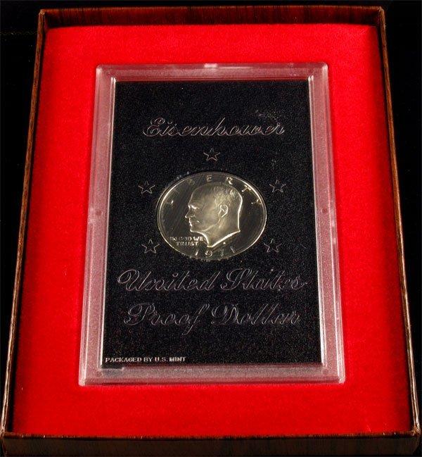 39: 1971 U.S. Eisenhower Proof Dollar Coin-Investment P