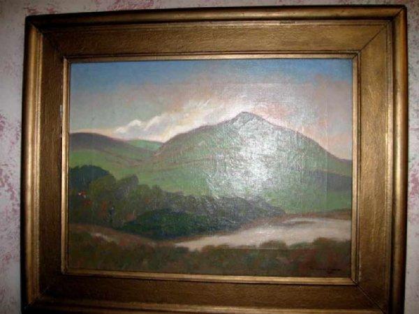 40: Douglass Fraser ''''The Green Hill'''' Oil on Canva
