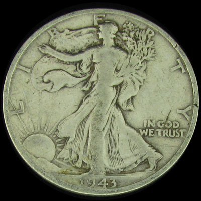 13: 1943-S U.S. Walking Liberty Half Dollar Coin-Invest