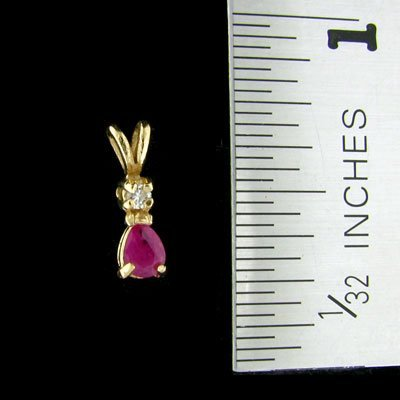 41: 14 kt. Gold, Ruby and Diamond Pendant