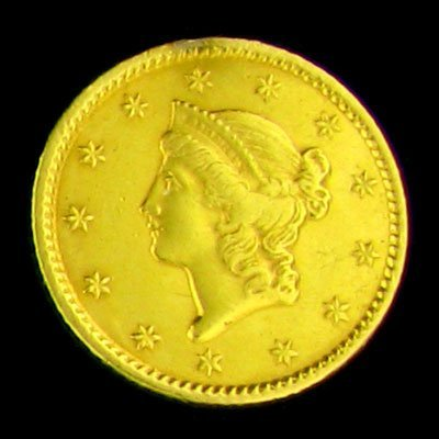 165: 1851 $1 U.S. Liberty Head Type Gold Coin-Investmen