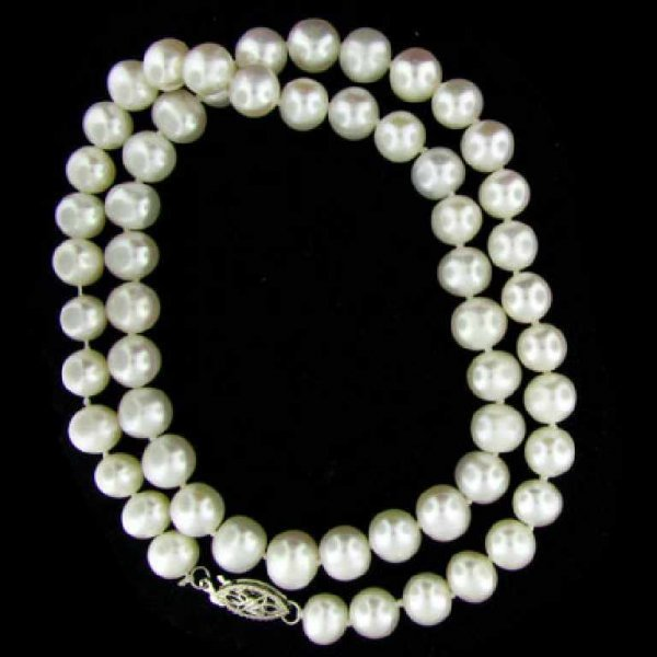 1: 16'' Freshwater Pearl Necklace-Single Strand