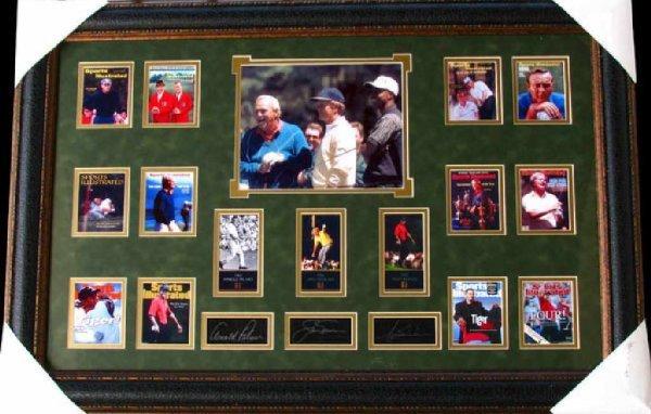 11: Rare Golf Collage Facsimile Autographed
