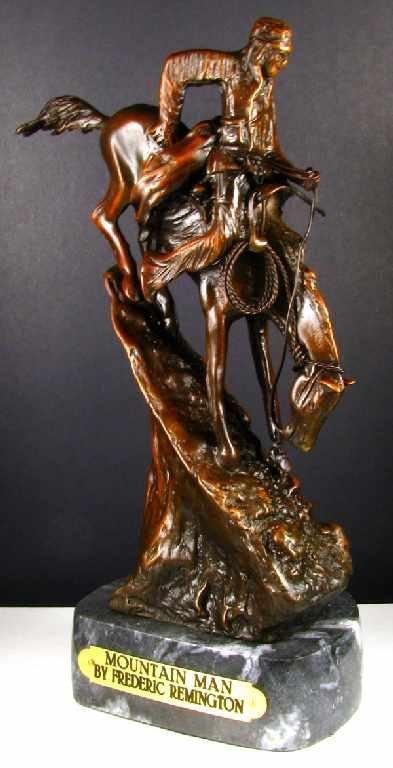 25: Frederic Remington Bronze Reproduction - Mountain M