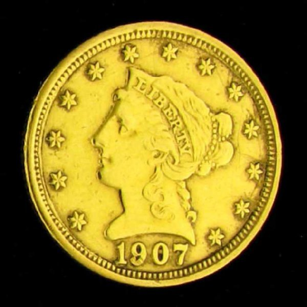 33: 1907 $2.5 U.S. Liberty Head Type Gold Coin-Investme