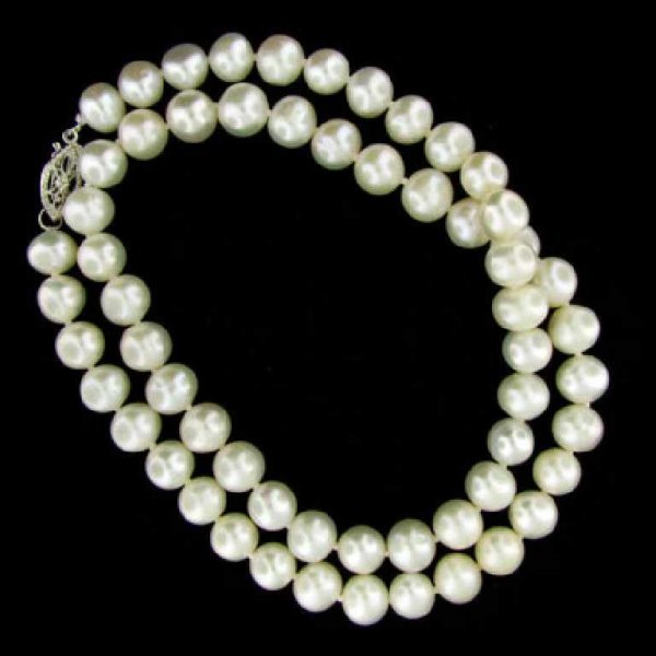 689: 16'' Freshwater Pearl Necklace-Single Strand
