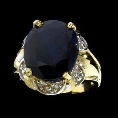 11: APP: 5.6k 14 kt. Gold, 6.72CT Sapphire and Diamond