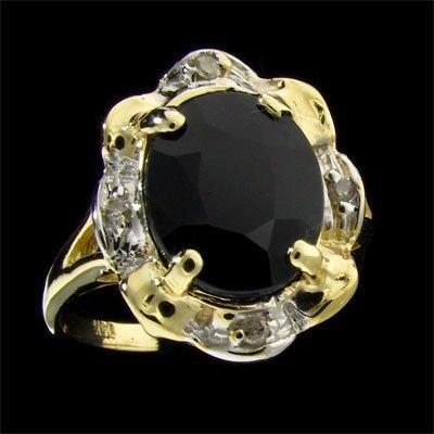 41: APP: 1.8k 14 kt. Gold, 4.43CT Sapphire and Diamond
