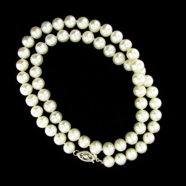 """53: 17"""" Freshwater Pearl Necklace-Long Strand"""