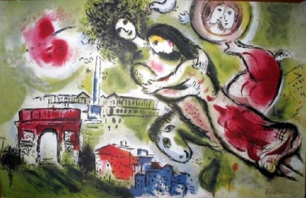41: MARC CHAGALL Romeo and Juliet Print-Limited Edition