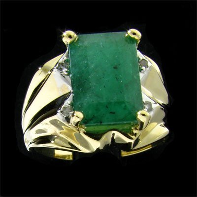 47: APP: 6.8k 14 kt. Y/W Gold, 3.96CT Emerald and Diamo