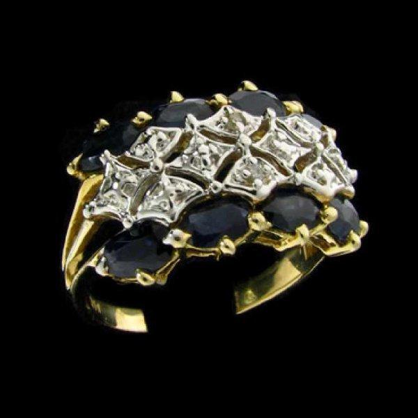 13: APP: 2.1k 14 kt. Gold, 1.84CT Sapphire and Diamond