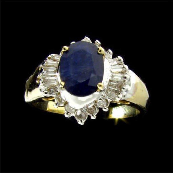 127: APP: 2.5k 14 kt. Gold, 1.18CT Sapphire and Diamond