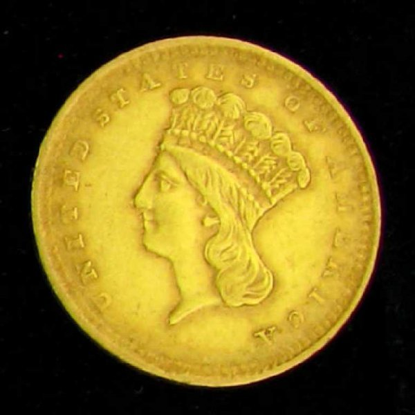 169: 1857 $1 U.S. Indian Head Type Gold Coin-Investment