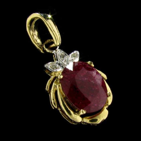 5: 14 kt. Gold, Ruby and Diamond Pendant
