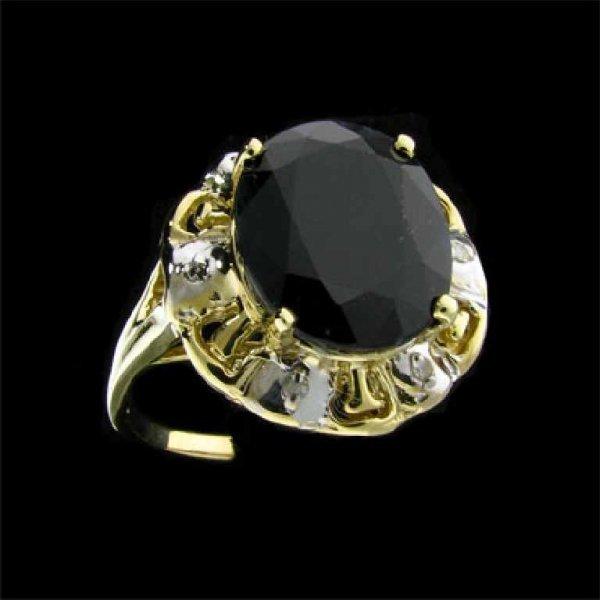 15: APP: 6.6k 14 kt. Gold, 5.36CT Sapphire and Diamond