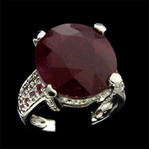 21: APP: 19.9k 14 kt. White Gold, 10.38CT Ruby and Diam