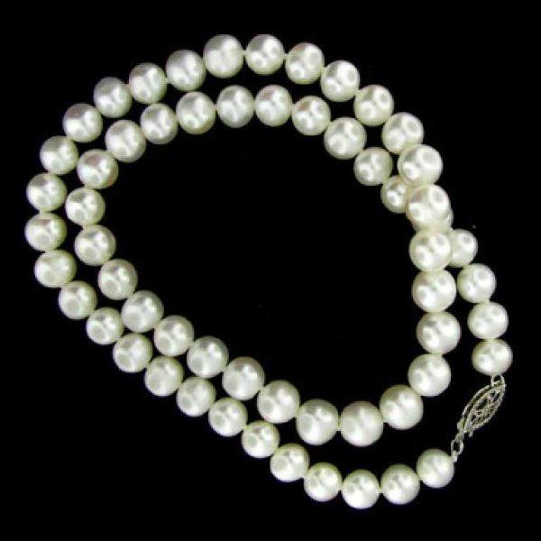 27: 16'' Freshwataer Pearl Necklace-Single Strand