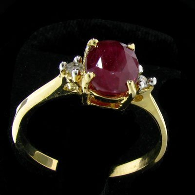 14 kt. Gold, Ruby and Diamond Ring