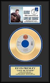 Elvis Presley - ''Love Me Tender'' Gold Record W/Cachet