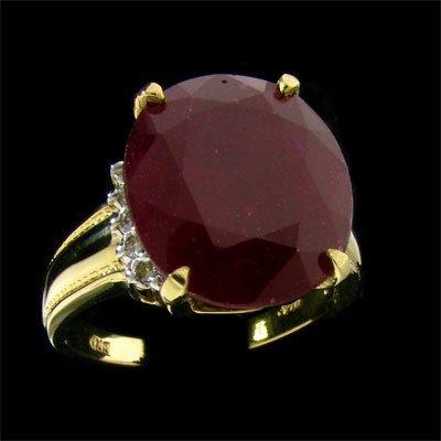 APP: 27.8k 14 kt. Gold, 15.10CT Ruby & Diamond Ring
