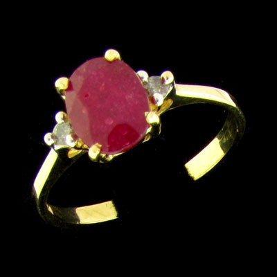 APP: 2.7k 14 kt. Gold, 1.65CT Ruby & Diamond Ring