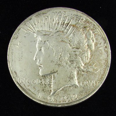 1922-D U.S. Peace Silver Dollar Coin - Investment