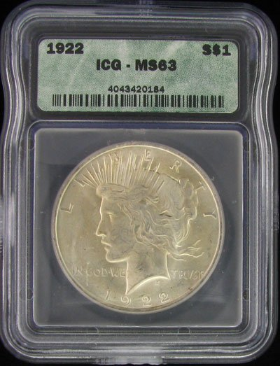 1922 U.S. Peace Silver Dollar Coin - Investment