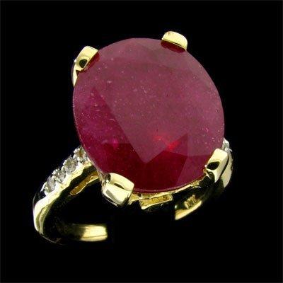 APP: 10k 14 kt. Gold, 8.23CT Ruby & Diamond Ring