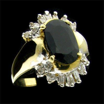 APP: 2.7k 14 kt. Gold, 1.82CT Sapphire & Diamond Ring