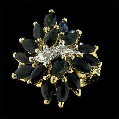APP: 1.8k 14 kt. Gold, 3.36CT Sapphire & Diamond Ring