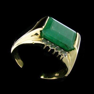 APP:9.3k 14 kt. Y/W Gold, 4.30CT Emerald & Diamond Ring