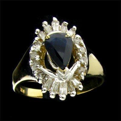 APP: 2.8k 14 kt. Gold, 0.76CT Sapphire & Diamond Ring