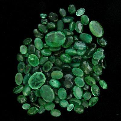 APP: 3.9k 49.21CT Faceted Oval Cut Emerald Parcel